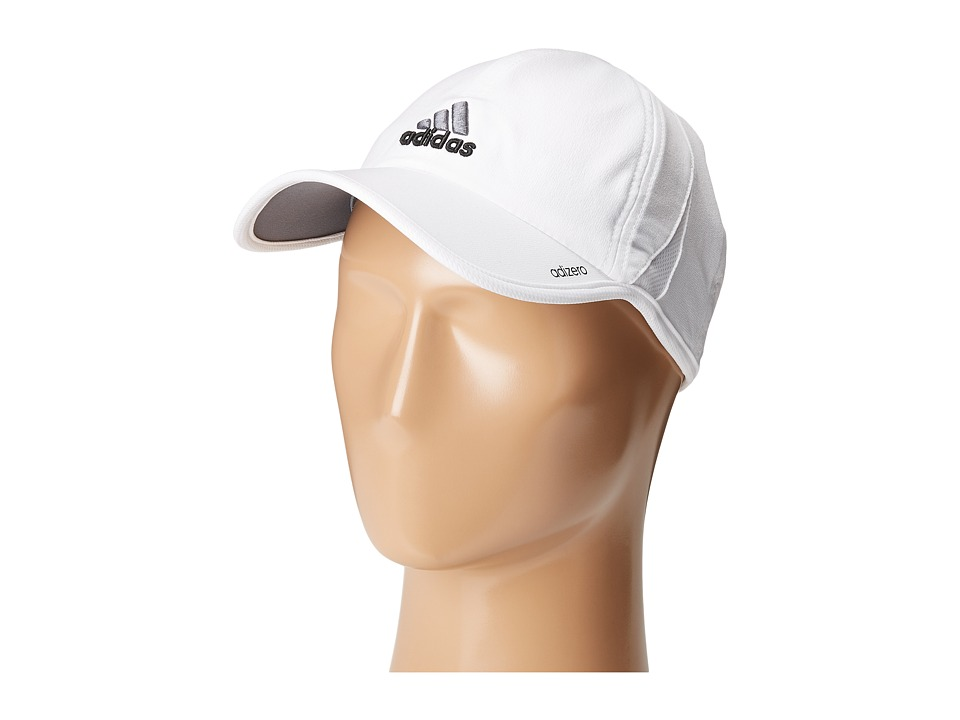 adidas - Adizero II Cap (White/Black/Sharp Grey) Caps