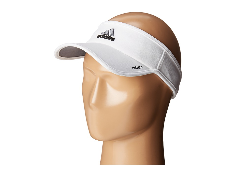 adidas - Adizero II Visor (White/Black/Sharp Grey) Casual Visor