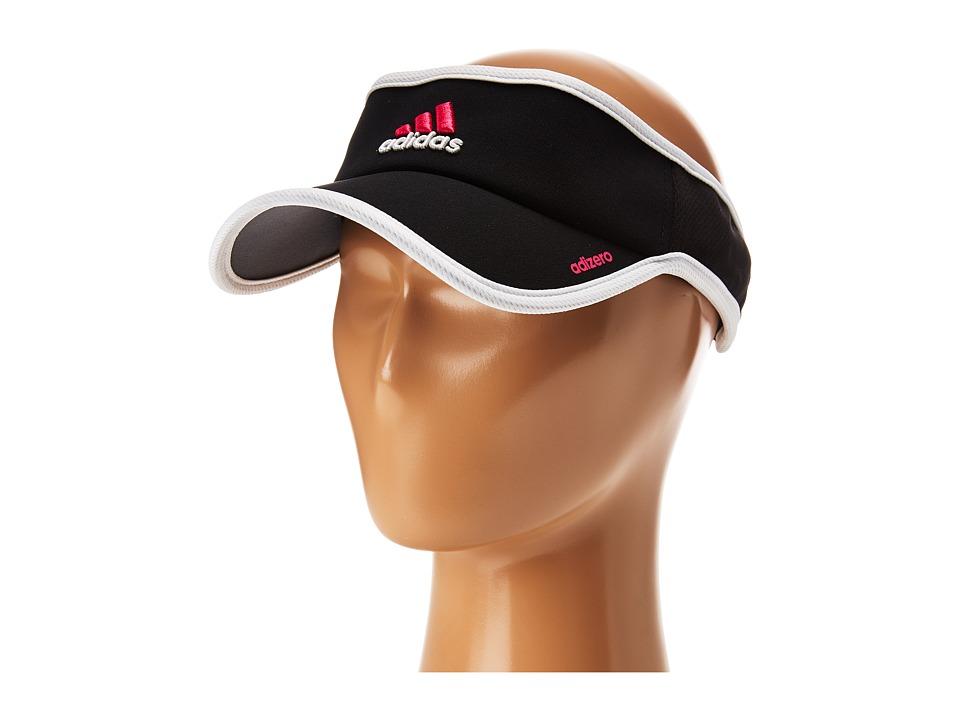 adidas - Adizero II Visor (Black/Solar Pink/White) Casual Visor