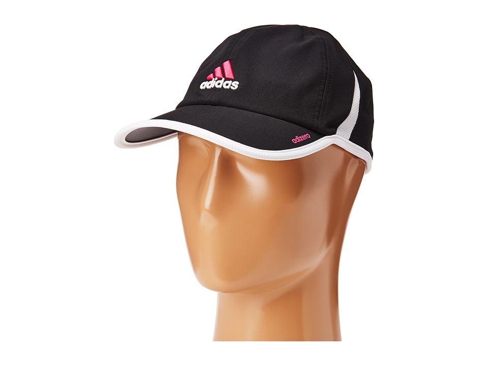 adidas - Adizero II Cap (Black/Solar Pink/White) Caps
