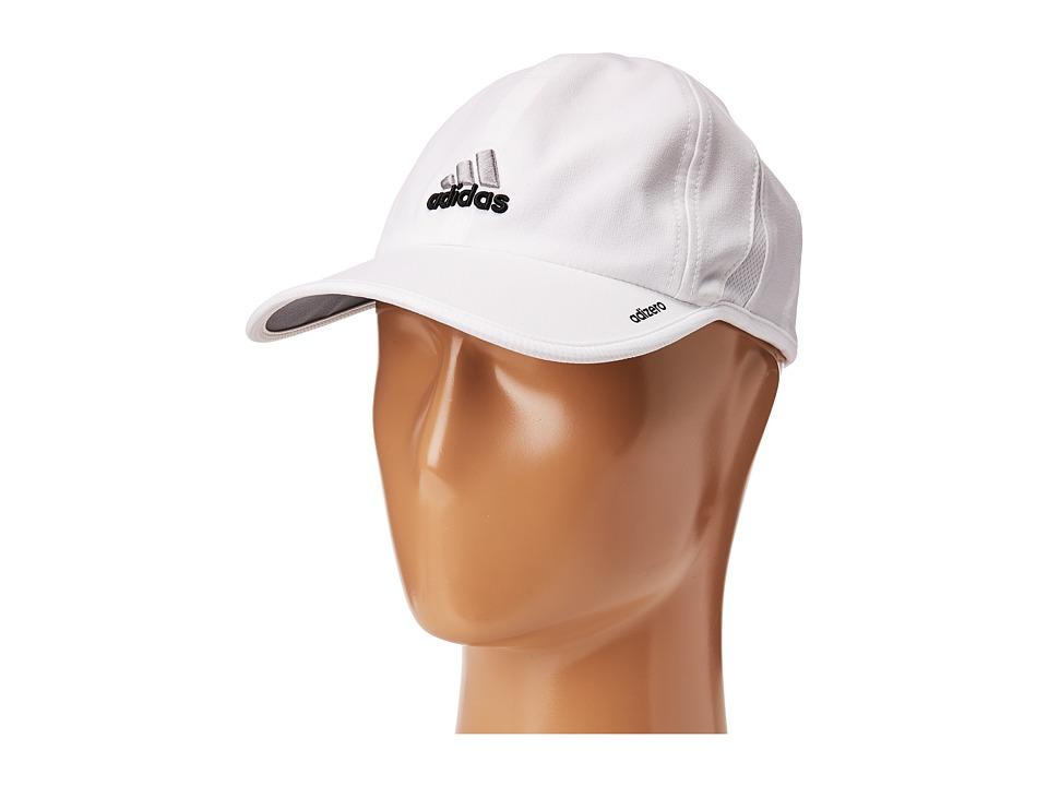 adidas - Adizero II Cap (White/Black) Caps