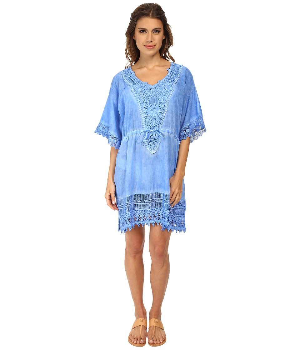 Miraclesuit - Crochet Tunic Cover-Up (Blue) Women's Swimwear