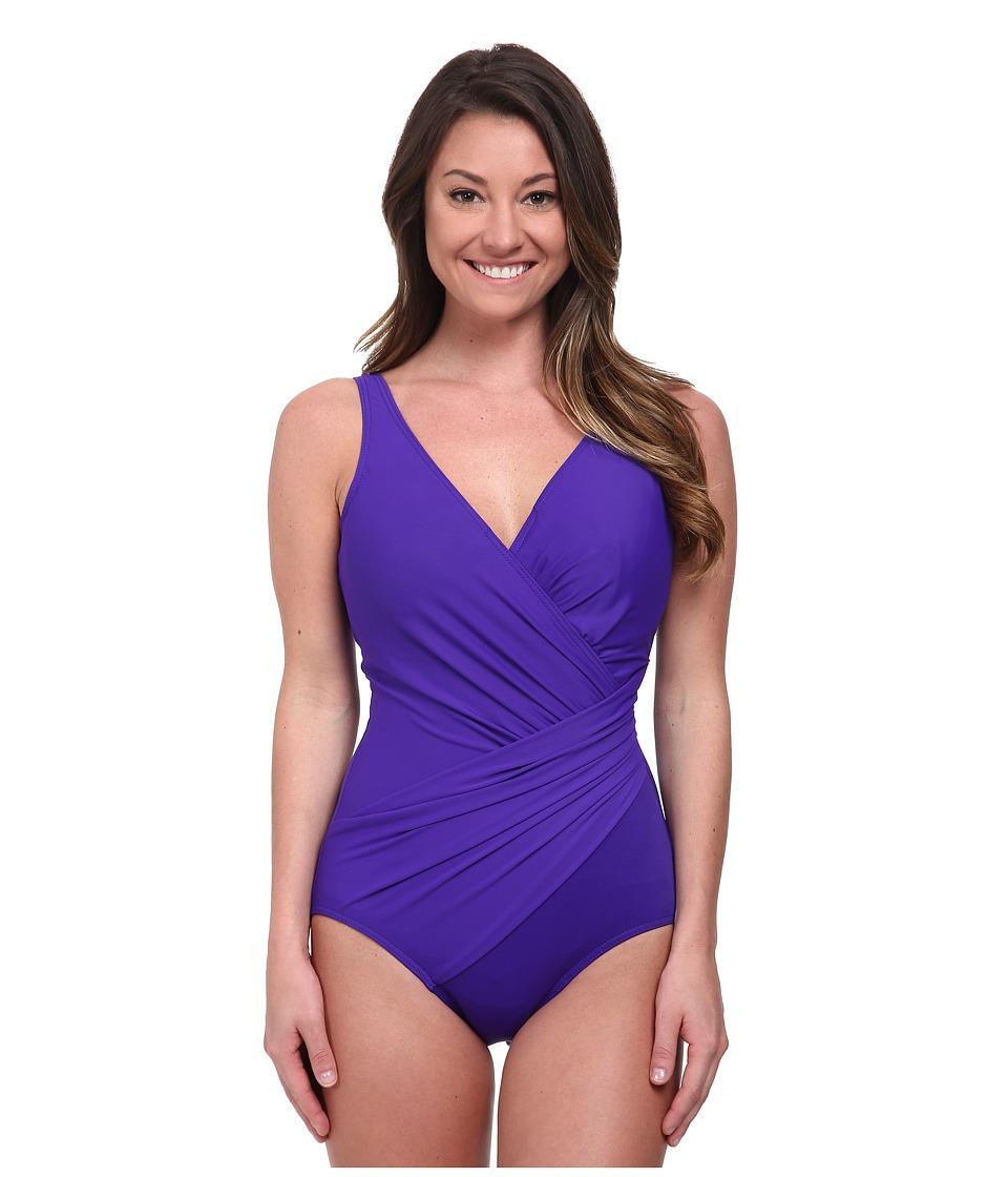 Miraclesuit - Solid Oceanus Swimsuit (DD Cup) (Ultraviolet) Women