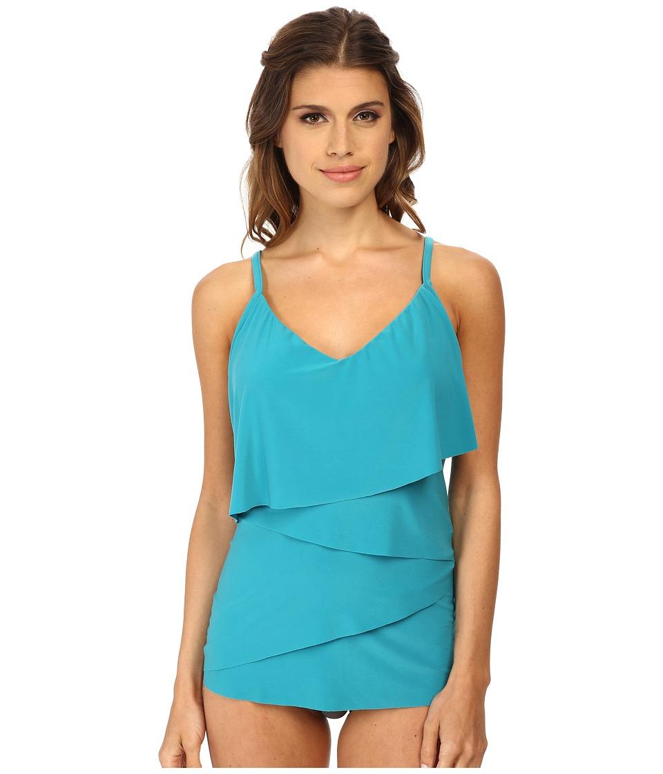 Magicsuit - Solid Chloe Tankini Top (Jade) Women's Swimwear