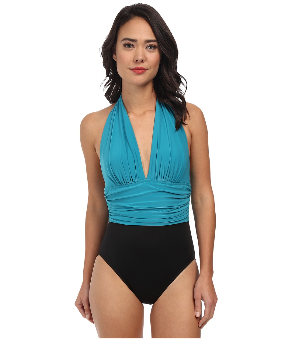 Magicsuit - Colorblock Solid Yves Swimsuit (Jade) Women's Swimsuits One Piece