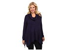 Plus Size Marled Sweater Knit Longsleeve Cowl