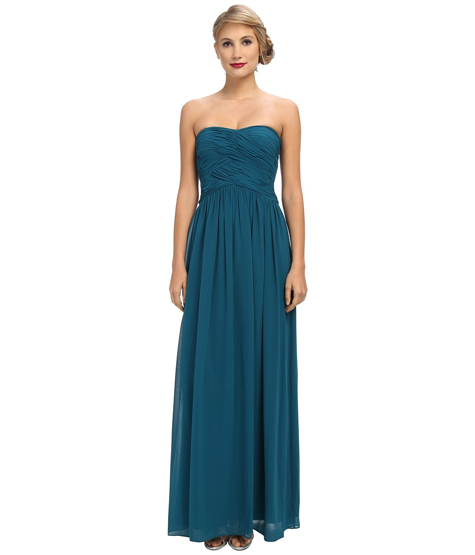 Donna Morgan - Audrey Long Torso Chiffon Gown (Jade) Women