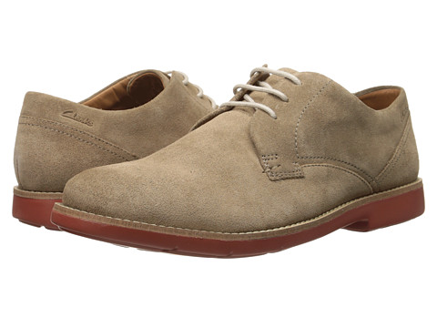 Clarks - Raspin Plan (Wolf Suede) Men's Shoes