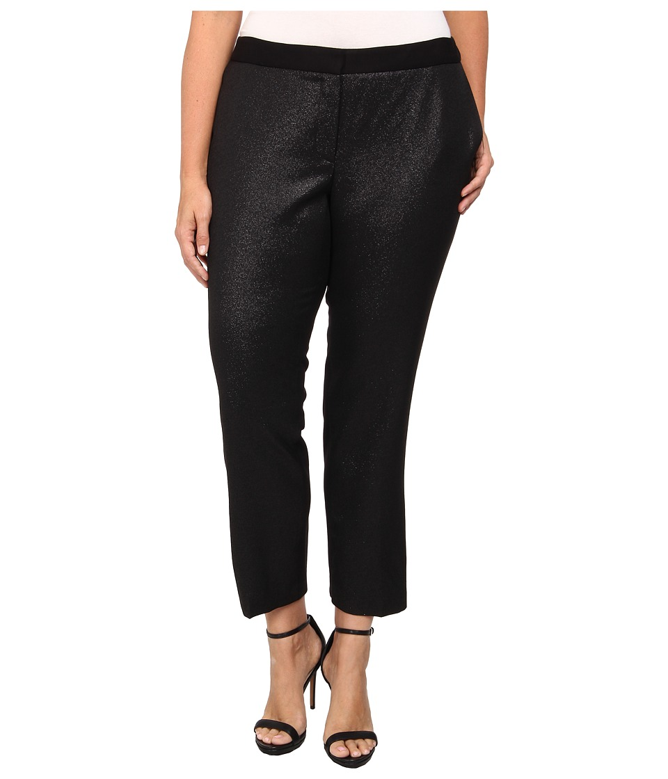 DKNYC - Plus Size Ponte Back Pant (Black) Women
