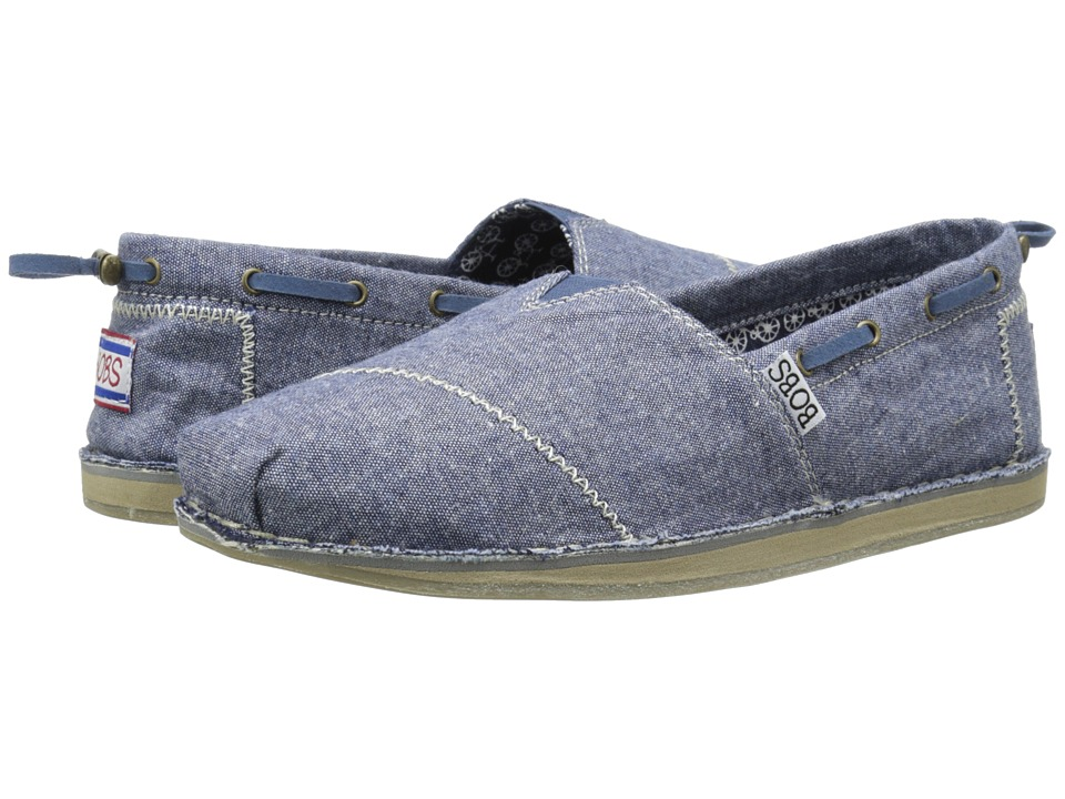 BOBS from SKECHERS - Bobs Chill-Denim Daisy (Denim) Women's Flat Shoes