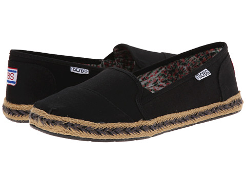 BOBS from SKECHERS - Flexpadrille-Rainbow Light (Black) Women's Flat Shoes