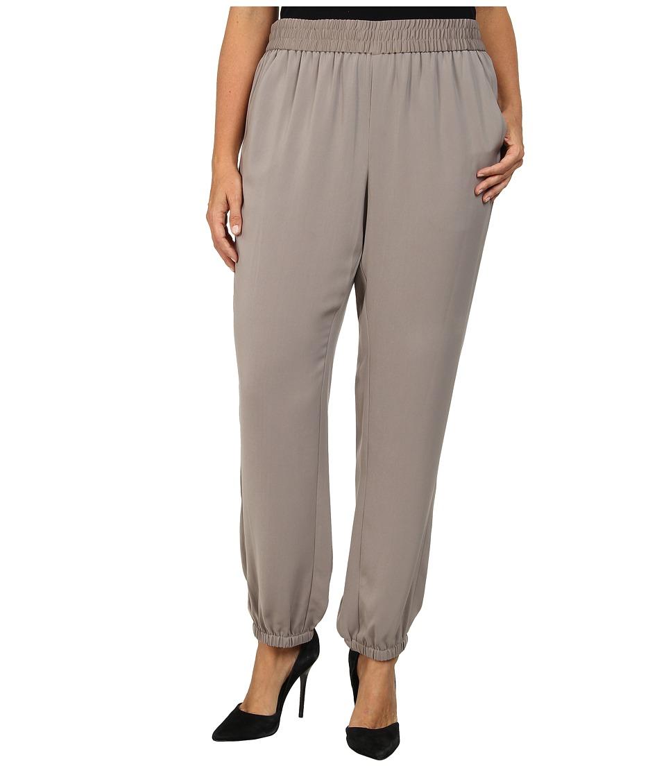 DKNYC - Plus Size Elastic Hem Pant (Mink) Women's Casual Pants