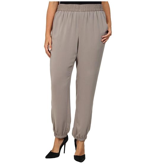 DKNYC - Plus Size Elastic Hem Pant (Mink) Women