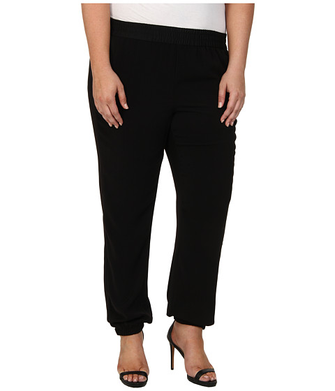 DKNYC - Plus Size Elastic Hem Pant (Black) Women's Casual Pants