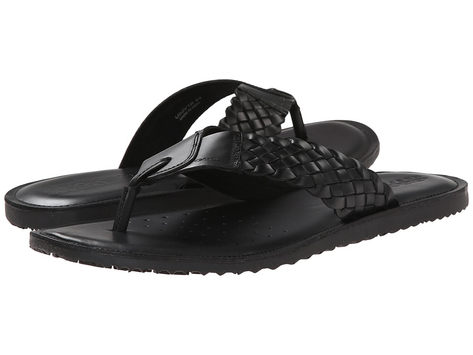 Geox - U Artie 5 (Black) Men's Sandals