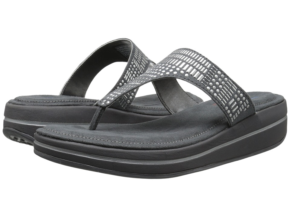 SKECHERS - Upgrades (Charcoal/Silver) Women's Sandals