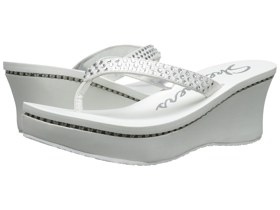 SKECHERS - Pinups-Time To Shine (White) Women's Sandals