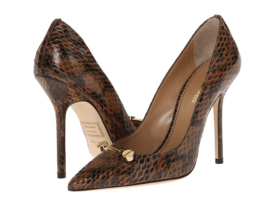 DSQUARED2 - Snake Print Pump (Marrone) High Heels