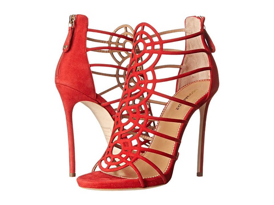 DSQUARED2 - Strappy Sandal (Rosso) High Heels