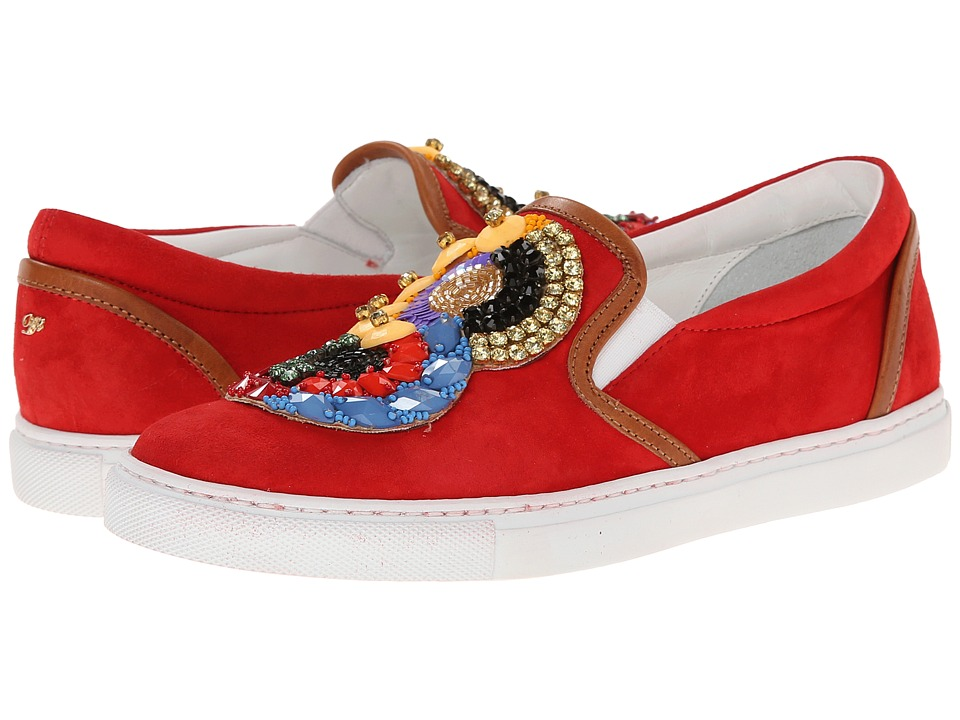 DSQUARED2 - Embroidered Slip-on Sneaker (Rosso) Women's Slip on Shoes