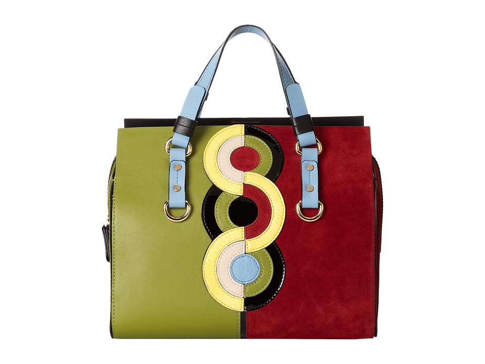 DSQUARED2 - Circle Print Tote Bag (Multi) Tote Handbags