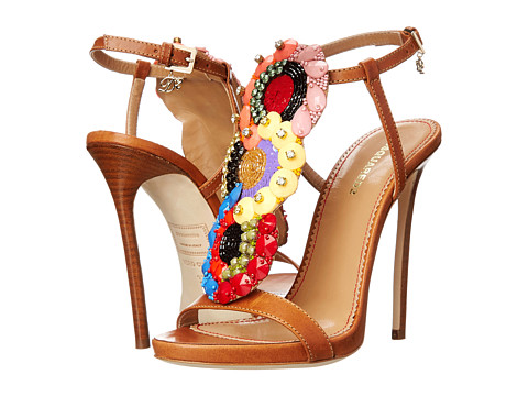DSQUARED2 - T-Strap Heeled Sandal (Cuoio) High Heels