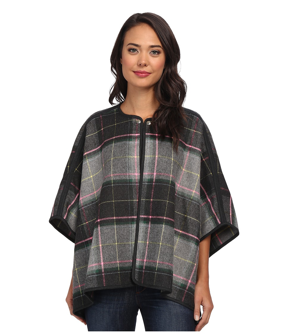 French Connection - Fast Felix Check Cape 70CXF (Charcoal/Multi) Women