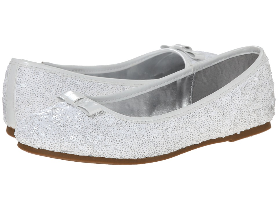 Nina Kids - Peggy (Little Kid/Big Kid) (White Sequins) Girls Shoes