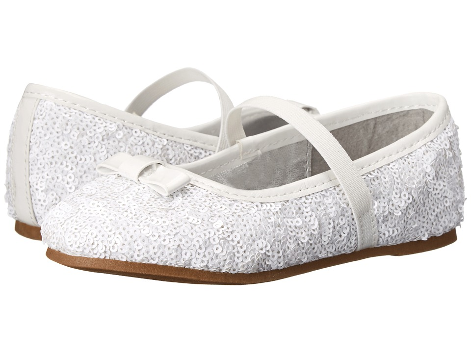 Nina Kids - Peggy-T (Toddler/Little Kid) (White Sequins) Girls Shoes