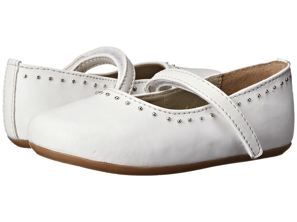 Pazitos - Dotty MJ PU (Toddler) (White) Girls Shoes