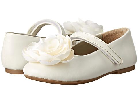 Pazitos - Camelia MJ PU (Toddler/Little Kid) (Ivory) Girls Shoes