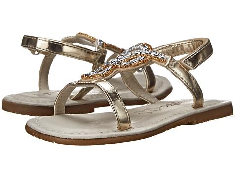 Pazitos - Mini Glitz PU (Toddler) (Gold) Girls Shoes
