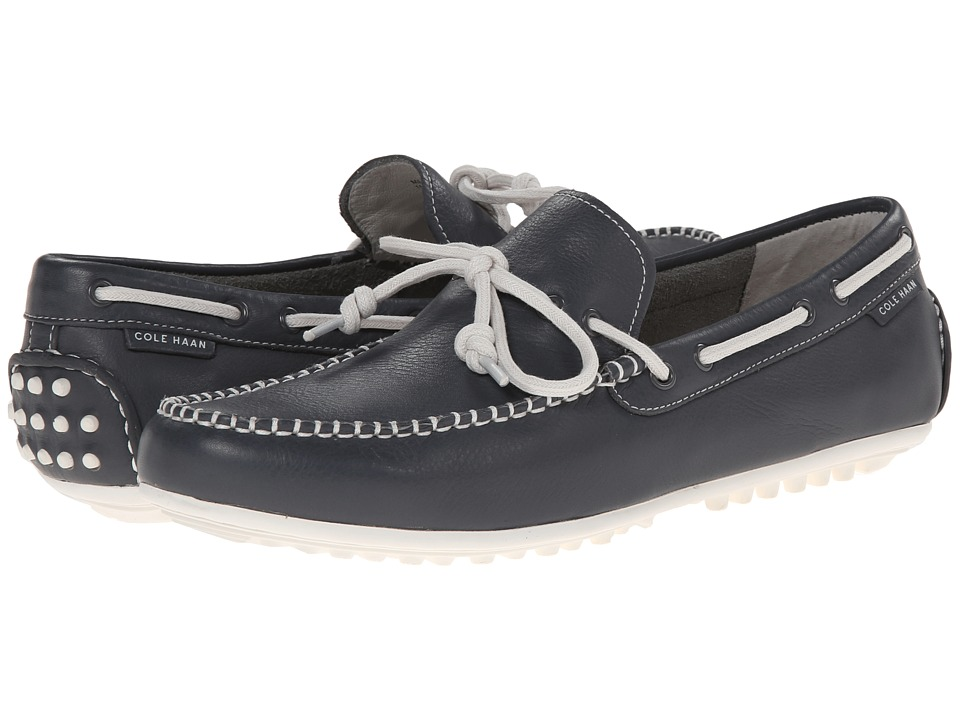 Cole Haan - Grant Escape (Grey Leather/White) Men's Slip on Shoes
