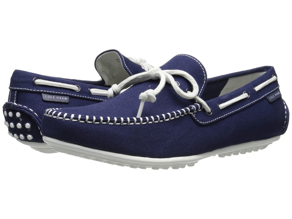 Cole Haan - Grant Escape (Peacoat Fabric/White) Men's Slip on Shoes