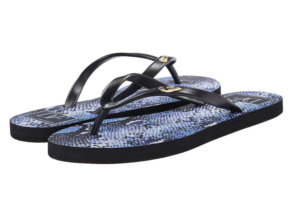 Diane von Furstenberg - Gina (Navy Rubber/Blue Multi Python Print) Women's Shoes