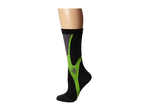 Powerstep - Recovery Compression Socks (Black/Green) Women's Knee High Socks Shoes