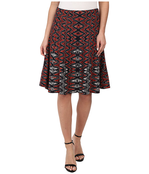 NIC+ZOE - Tribal Twirl Skirt (Multi) Women