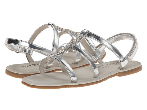 Pazitos - Cristal PU (Little Kid/Big Kid) (Silver) Girls Shoes