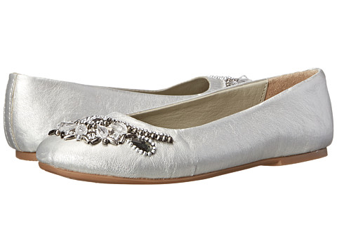 Pazitos - Sweet Pearl BF PU (Little Kid/Big Kid) (Silver) Girls Shoes