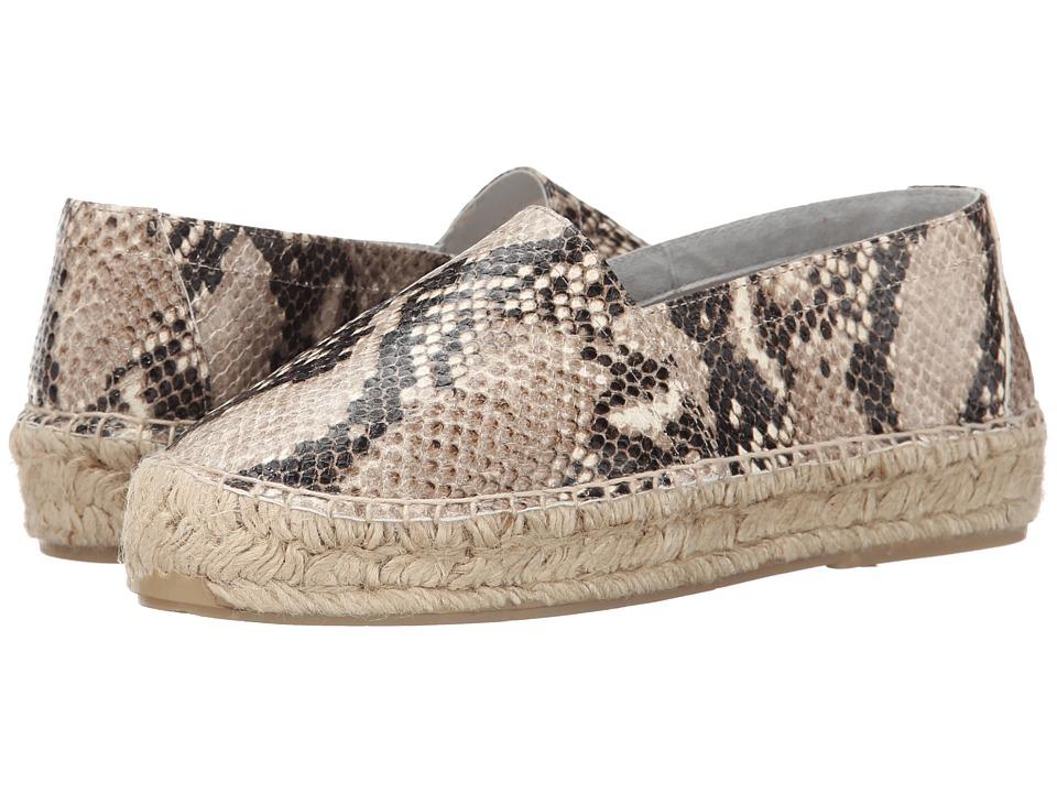 Diane von Furstenberg - Tilly (Beige Snake Print) Women's Slip on Shoes