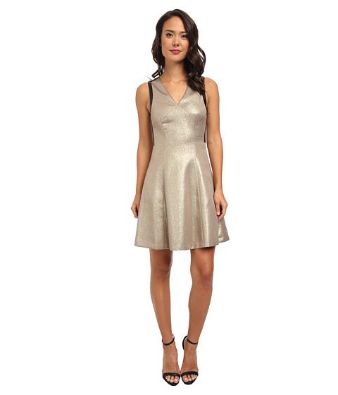 DKNYC - Ponte Pieced Flare Dress (Mink) Women