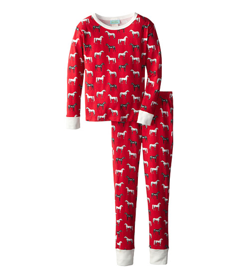 BedHead Kids - Snug Fit L/S Classic PJ (Big Kids) (Red Year of the Horse) Girl