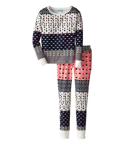 BedHead Kids - Snug Fit L/S Classic PJ (Big Kids) (Pink Hearts Galore) Girl's Pajama Sets