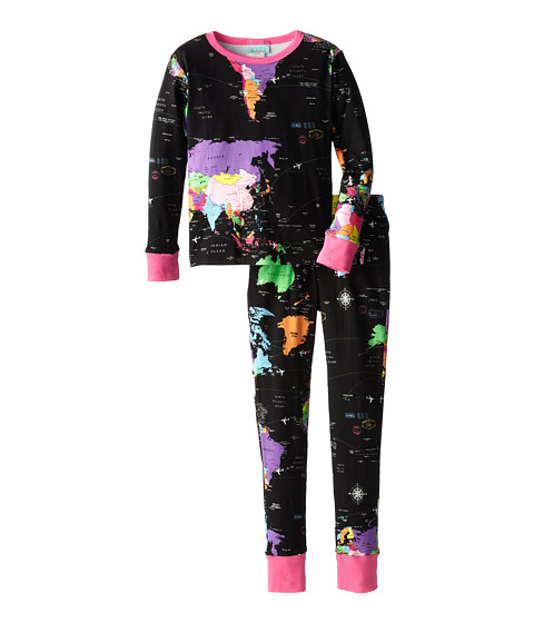 BedHead Kids - Snug Fit L/S Classic PJ (Big Kids) (Around The World) Girl