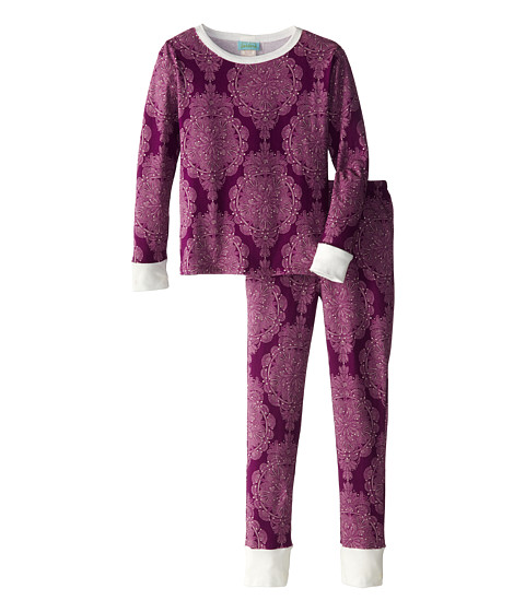 BedHead Kids - Snug Fit L/S Classic PJ (Big Kids) (Plum Mandala) Girl's Pajama Sets