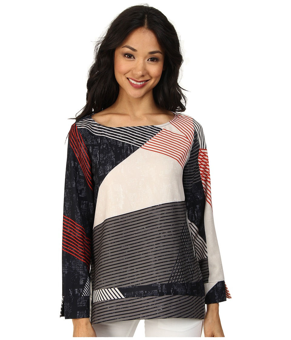 NIC+ZOE - Shifting Shapes Top (Multi) Women's Long Sleeve Pullover