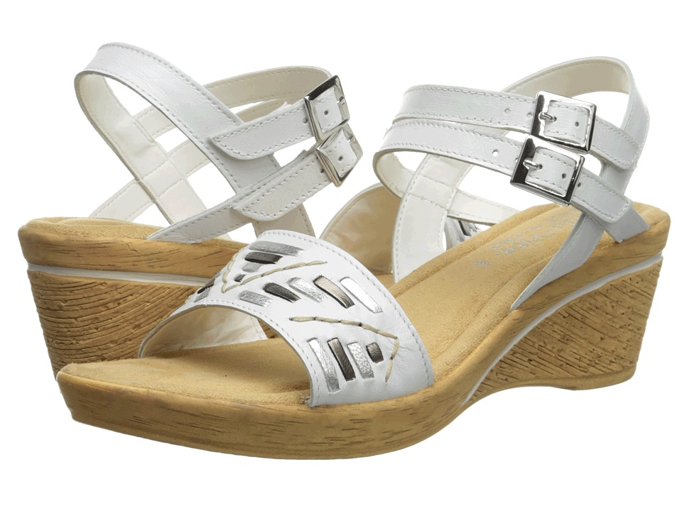 Bella-Vita - Padova (White/Metallic) Women's Sandals