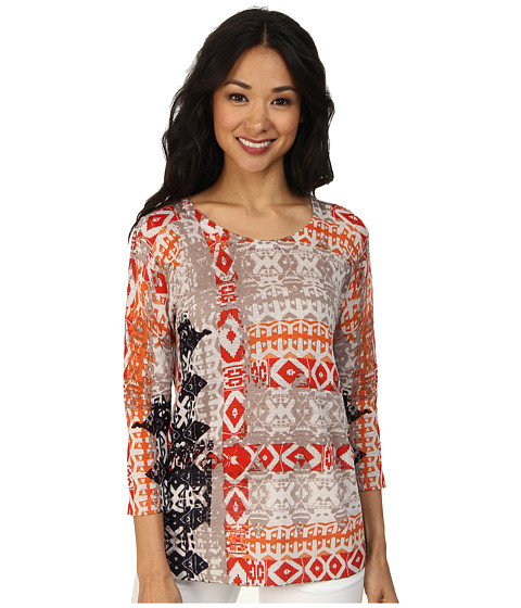 NIC+ZOE - Ikat Print Top (Multi) Women