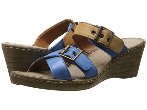 Bella-Vita - Modena (Blue/Tan) Women's Sandals