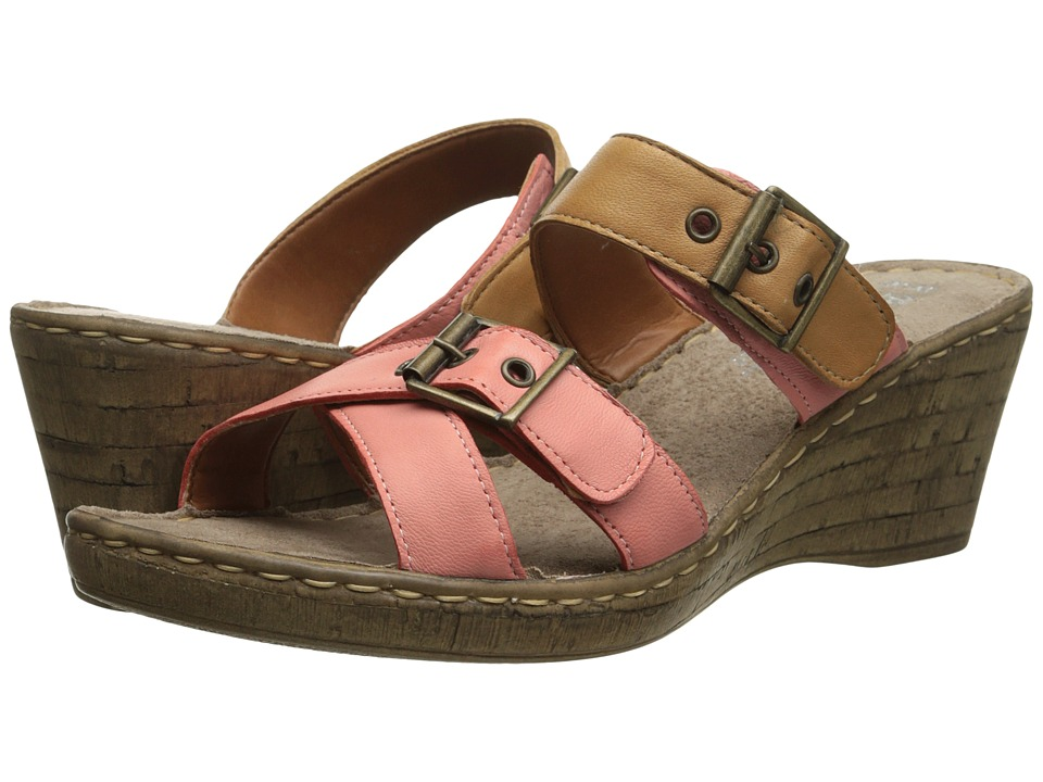 Bella-Vita - Modena (Coral/Tan) Women's Sandals